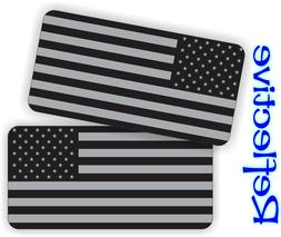 REFLECTIVE American Flag Black Ops Hard Hat Stickers Decals