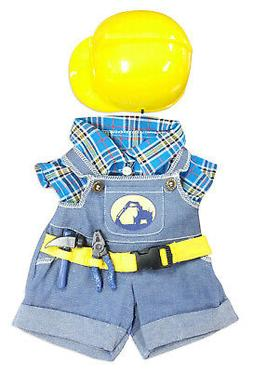 Construction Worker with Hard Hat Outfit Teddy Bear Clothes