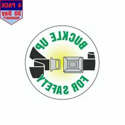 Buckle Up For Safety Hard Hat 4 pack 4x4 Inch Sticker Decal