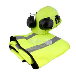 Felled Chaps – Hard Hat with Ear Protection Mesh Face Shie