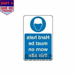 Hard Hats Must Be Worn On This Site 1 4 pack 4x4 Inch Sticke