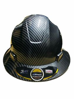 HDPE   Hydro Dipped Black/Silver  Full Brim Hard Hat with Fa