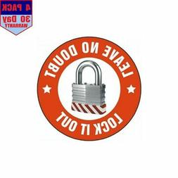 Lock Out For Safety Hard Hat 1 4 pack 4x4 Inch Sticker Decal