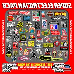 NEW ELECTRICIAN  Hard Hat Stickers HardHat Decals, Lineman R