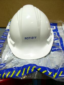 North Honeywell A79 HARD HAT lot of 6 NEW WHITE VISITOR labe