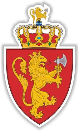 Norway Norwegian Coat of Arms Sticker Decal for Bumper Lapto