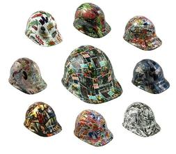 Pop Culture Theme Hydro Dipped Cap Style Hard Hat with Ratch