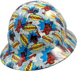 Spider Man Hydro Dipped Full Brim Hard Hat with Ratchet Susp