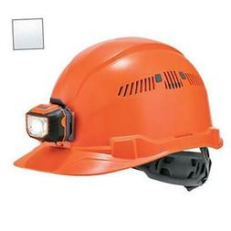 Vented Hard Hat with Light, Cap Style, Ratchet Suspension, C